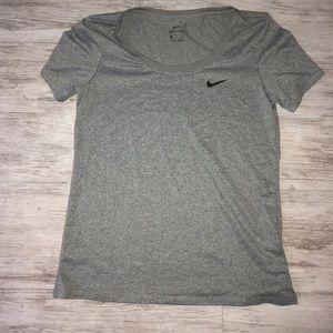 Grey Nike Dri Fit Shirt